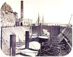 Industry in Brazil - Shipyard in the city of Rio de Janeiro, c.1862.