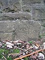 Shirehampton, cut bench mark on railway bridge (geograph 2272280).jpg