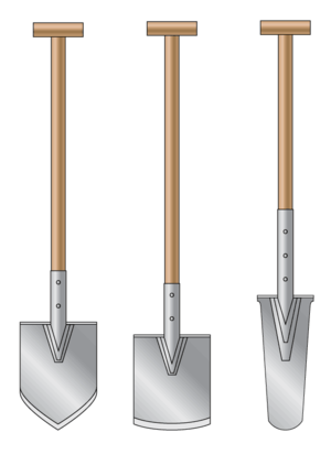 Shovel types