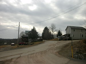 Fox Township, Sullivan County, Pennsylvania - The community of Shunk, within Fox Township along the side of State Route 154 as seen in February 2012.