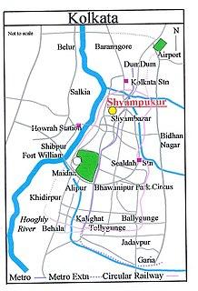 Shyampukur Neighbourhood in Kolkata in West Bengal, India