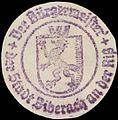Siegelmarke Der Bürgermeister der Stadt Biberach an der Riß W0391265.jpg