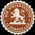 Siegelmarke Der Bürgermeister zu Bergen W0220454.jpg