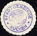 Siegelmarke Stadtgemeinde - Buchen W0229190.jpg