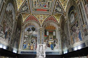 Siena - Interior of the Siena Cathedral.