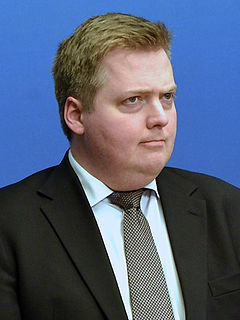 Sigmundur Davíð Gunnlaugsson prime minister of Iceland 2013 - 2016