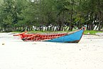 Sihanoukville. Boat on the sandy coast.jpg