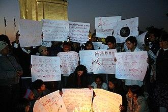 2012 Delhi gang rape - Image: Silent Protest at India Gate