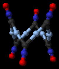 Struktur von Silberfulminat-Hexamer