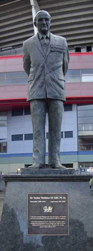 Tasker Watkins - Statue at the Millennium Stadium, Cardiff