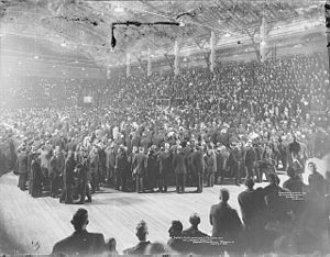 Mutual Street Arena - 1913 Liberal Party Reception for Wilfrid Laurier at Arena Gardens