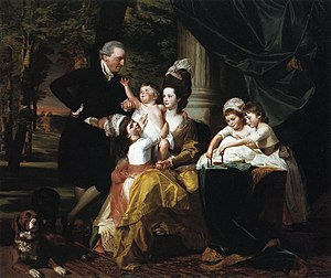 William Pepperrell - Sir William Pepperrell, 1st Baronet (not the subject of this article, but his adopted heir) and his family, by John Singleton Copley, 1778.