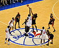 Sixers vs. Warriors tipoff, Dec. 14, 2009.jpg