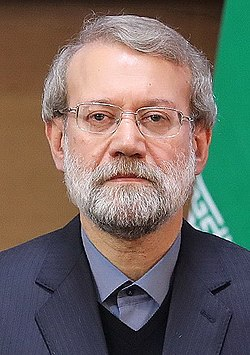 Sixth International Conference in Support of the Palestinian Intifada, Tehran (15) (crop of Ali Larijani).jpg