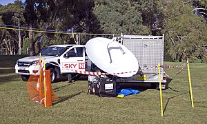Sky News Australia - Sky News Australia outside broadcast equipment.