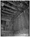 Smokehouse- interior through . door looking up - Price Ranch, White Bird, Idaho County, ID HABS ID,25-WHIBI.V,1-35.tif