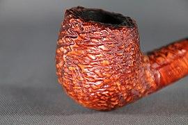 Smoking pipe briar bowl rustic