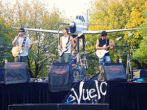 Ciudad Jardín Lomas del Palomar - Outdoor rock music concert in Plaza de los Aviadores (Aviators Square)