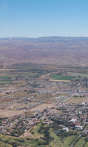English: A view of part of Socorro, New Mexico...