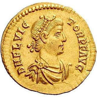 Victor (emperor) - A Solidus minted for Victor