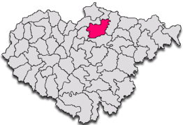 Ligging in het district Sălaj