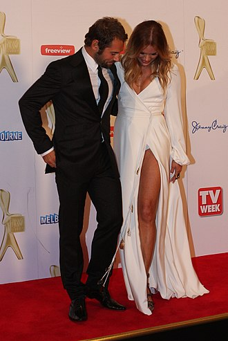 Sonia Kruger - Sonia Kruger (right) with Daniel MacPherson at the 2011 Logie Awards, in Melbourne
