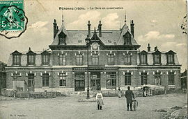 The railway station of Péronne-Flamicourt, in 1909