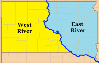 South Dakota East River and West River South Dakota East River West River.png