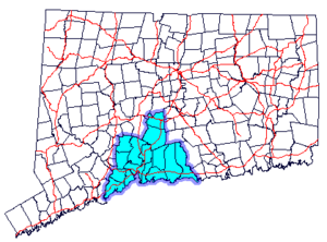 Greater New Haven - South Central region of Connecticut which roughly corresponds to the Greater New Haven area.