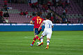 Spain - Chile - 10-09-2013 - Geneva - Alvaro Arbeloa and Eduardo Vargas.jpg