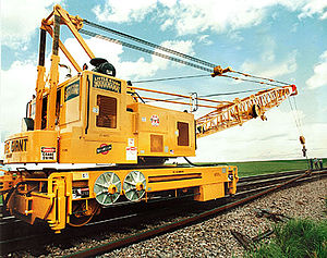 English: RAIL CRANE