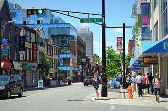 Spring Garden Road, Halifax - Spring Garden Road at Queen Street.