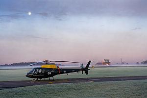 RAF Shawbury - An RAF Squirrel Helicopter at RAF Shawbury.