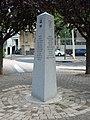 Stèle 30 ans jumelage (Chamalières) français et allemand 2015-09-10.JPG
