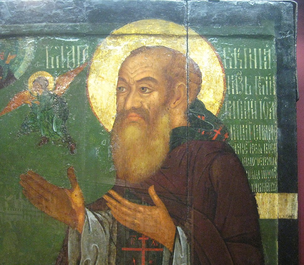 St.Basil and prince Vasily detail