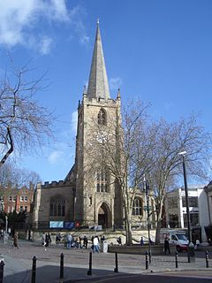 St Peters Church, Nottingham Church in Nottingham, England
