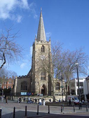 St Peter's Church, Nottingham - Image: St Peters Nottingham