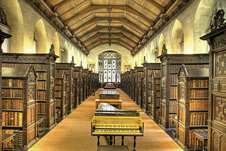 St John's College Old Library, Cambridge - Interior of the library
