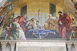 St Mark venerated by Venetian magistrates St Mark's Basilica n01.jpg