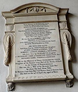 Sir Richard Glyn, 1st Baronet, of Ewell Lord Mayor of London