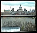 St Paul's Cathedral from the top floor cafe of Tate Modern - geograph.org.uk - 1601176.jpg