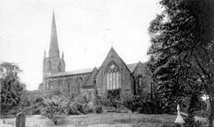 St Stephen's Church, Kirkstall - The church prior to 1914.