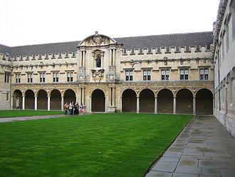 Brunette Coleman - The quadrangle, St John's College, Oxford