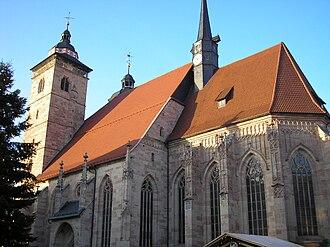 Schmalkalden - Image: Stadtkirche Schmalkalden 2
