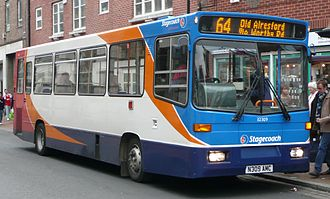 Stagecoach South - Alexander Dash bodied Dennis Dart in Winchester in November 2008