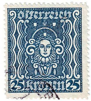 Wilhelm Dachauer - Image: Stamp Austria 1922 399