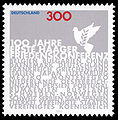 Stamp Germany 1999 MiNr2066 Haager Friedenskonferenz.jpg