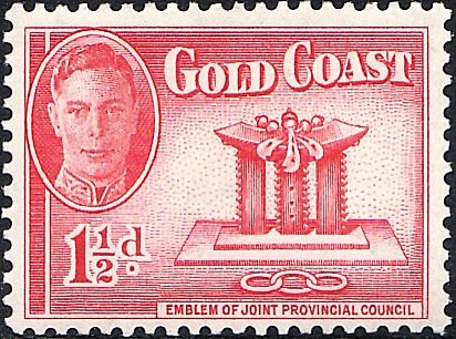 Stamp Gold Coast Golden Stool with GeorgeVI