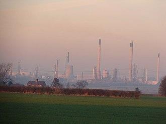 Stanlow Refinery - Stanlow Refinery from ground level