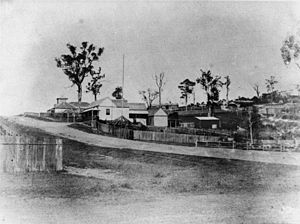 Herston, Queensland - View of Bowen Bridge Road from the corner of O'Connell Terrace in 1869